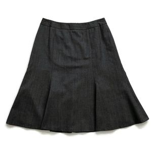 Brooks Brothers Skirt Pencil Flare Godet Pinstripe